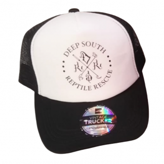 DSRR trucker cap black and white with black logo
