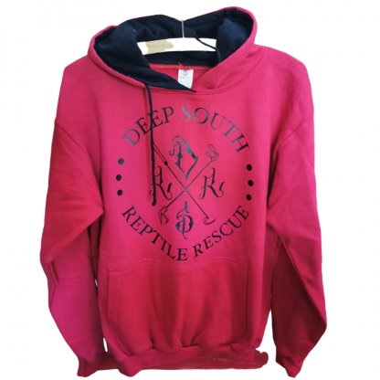 Deep South Reptile Rescue Hoodie - Cerise